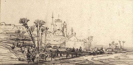 Jules NOËL (1810-1881) Navires au clair de lune