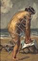 TORILLON (actif au XXe siècle) Baigneuse
