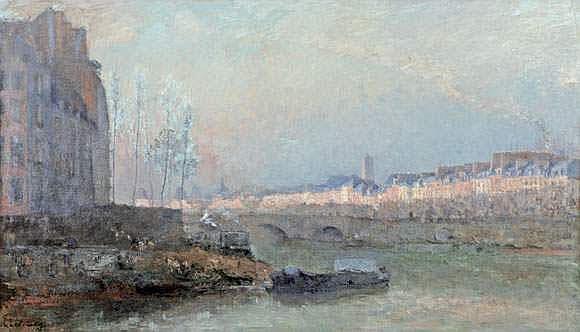 ALBERT LEBOURG (1849-1928) - LA SEINE ET LES