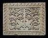 Plaque en marbre sculpté en bas-relief, élément de clôture de choeur