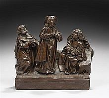 Christ au Jardin des Oliviers en chêne sculpté, élément de retable