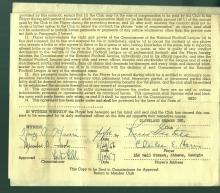Bert Bell Signed NFL Standard Contract for Charles Hess JSA Y31980
