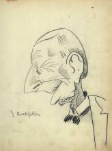 Vintage 1920's or 1930's Era Vincent Zito Caricature of John D. Rockefeller