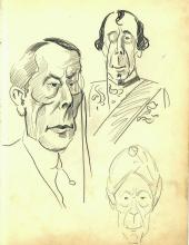 Vintage 1920's or 1930's Era Vincent Zito Caricature of GEORGE ARLISS