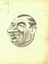 Vintage 1920's or 1930's Era Vincent Zito Caricature of Gene Sarazen