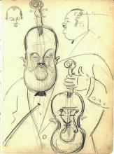Vintage 1920's or 1930's Era Vincent Zito Caricature of PAUL WHITEMAN D. 1967