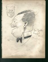 1930-40's Vincent Zito Caricature of Joe Zelli Signed by Zelli