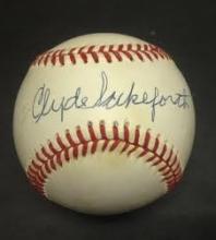 Clyde Sukeforth Signed William White Baseball