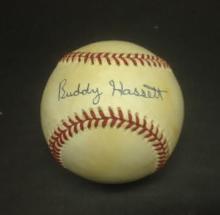 Buddy Hassett Signed Leonard Coleman Baseball