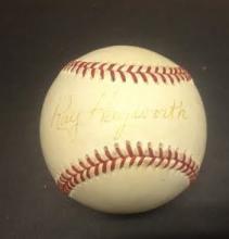 Ray Hayworth Signed Leonard Coleman Baseball