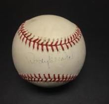 Rocky Bridges Signed William White Baseball