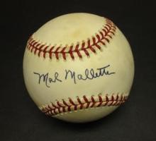 Mal Mallette Signed Leonard Coleman Baseball