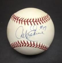Carl Erskine Signed Leonard Coleman Baseball