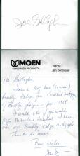 Joe Gallagher Signed TTM Postcard