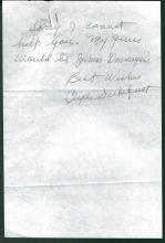 Clyde Sukeforth Signed Letter