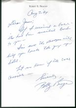 Bobby Bragan Signed Letter, Trading Card and Business Card
