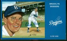 Clyde King Signed Brooklyn Dodgers Postcard