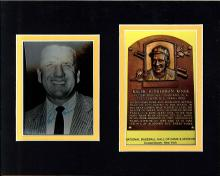 Ralph Kiner Signed Picture Matted With Hall of Fame Postcard Certified by JSA