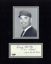 Doug Harvey Cut Signature Matted with a Photograph Certified by PSA/DNA