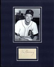 Jim Bunning Cut Signature Matted with a Photograph Certified by JSA