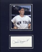 Phil Rizzuto Cut Signature Matted with a Photograph Certified by JSA James Spence Authentication
