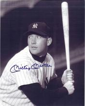 Mickey Mantle Signed 8 x 10 Photograph Certified by The Score Board