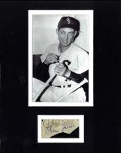 Sherm Lollar Cut Signature Matted with a Photograph Certified by JSA James Spence Authentication