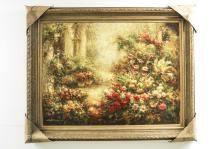 Floral Scence Painting Signed by Artist