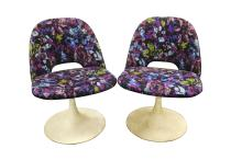 Pair Saarinen Style Tulip Chairs (Lot of 2)