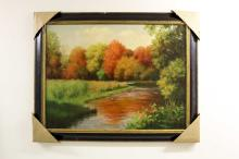 Landscape Scene painting Signed by Artist
