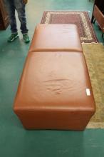 Italian Modern Leather 5 foot bench