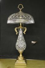 Brass and Crystal Tablelamp by Waterford