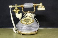 French Crystal Telephone