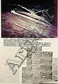 DENNIS OPPENHEIM (NÉ EN 1938) Star kid, project proposal for : Western United States, 1977 Photographies aériennes, carte typograp..., Dennis A Oppenheim, Click for value