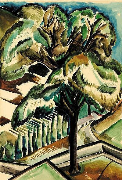 Ossip Zadkine (1890-1967) L'arbre Gouache sur