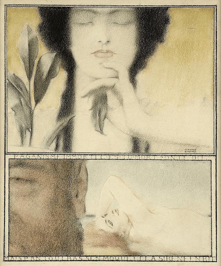 FERNAND KHNOPFF (1858-1921) Paganisme, ca 1910