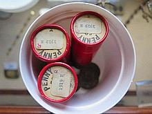 Box of 1912 and 1919 Pennies