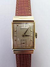 A Hamilton 18ct Gold Gent's Wristwatch, Lancaster