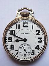 An Hamilton Railroad Pocket Watch in 10K Gold Fill