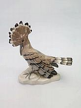 A Royal Dux Hoopoe Bird Ornament, slight faults to