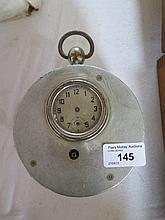 An Aluminium Cased Portable Clock
