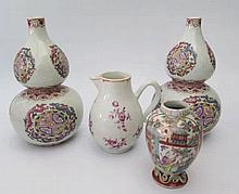 A Pair of Chinese Famille Rose Double Gourd vases,