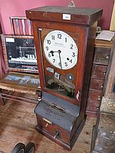 A National Time Recorder Company clock-in machine