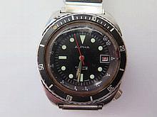 An Alpha Chromatic Gent's Wristwatch, running