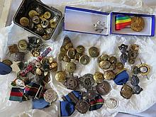 A Large Collection of army Badges