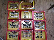 Box of Britains Farmyard and Autoway 9800 Set