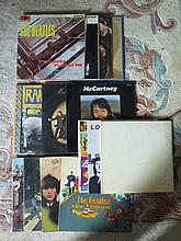 A Collection of Beatles and member's albums includ