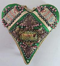 A WWI Valentines Heart with family note