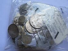 Selection of Silver and white metal coins
