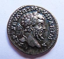 Roman Silver Coin, 19mm